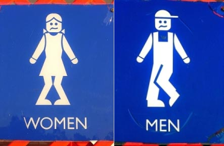 Women and Men need to use the toilet