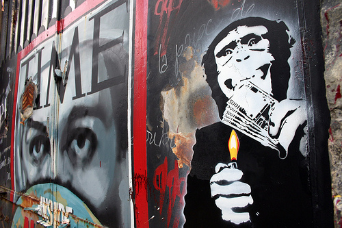 Monkey Money street art